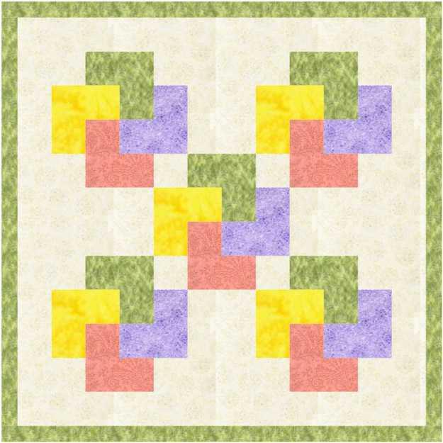 Card trick quilt pastel d